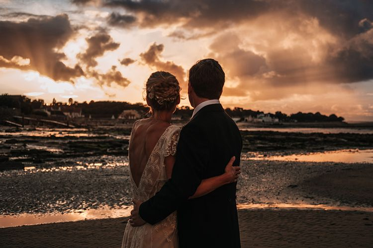 Bride & Groom Sunset Portraits