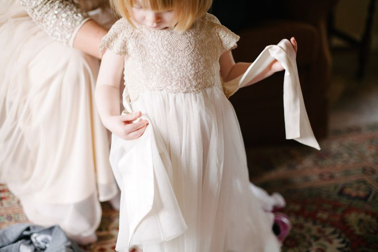 Adorable Cream Flower Girl Outfit