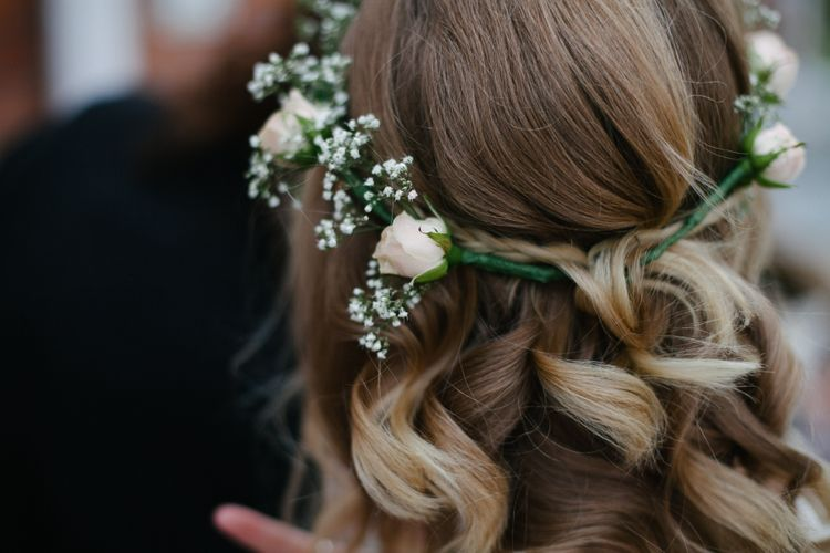 Bridesmaids Hair Inspiration With Flower Crown