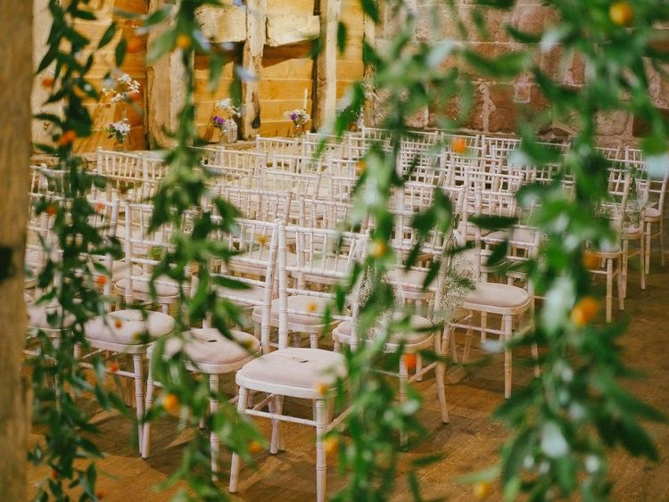 Barn Wedding Ceremony Seating