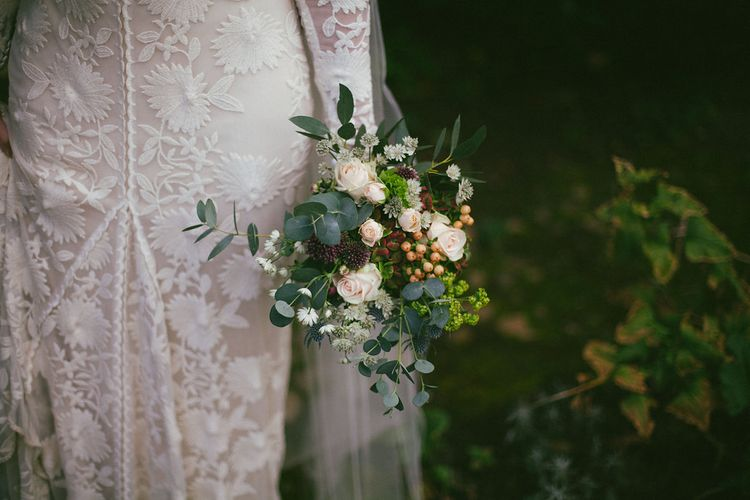 Bride in Rue De Seine Wedding Dress