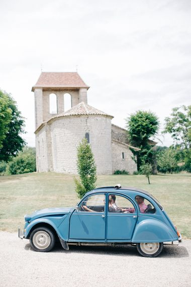Vintage French Citroen Wedding Car
