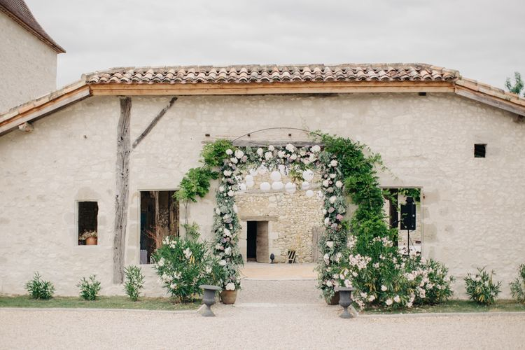 Floral Arch For Destination Wedding