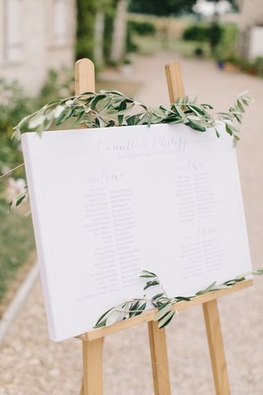 Elegant Table Plan For Wedding