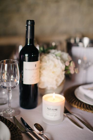 Neom Candles For Wedding Reception