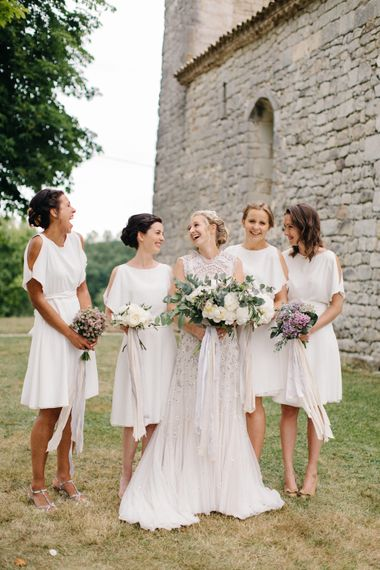 Bridesmaids In White Dresses From Reiss