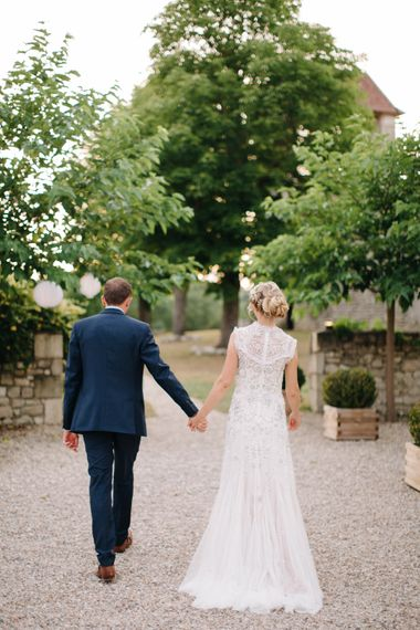 Elegant French Chateau Wedding Planned By Marry Me In France With Bride In Needle & Thread And Images From M&J Photography