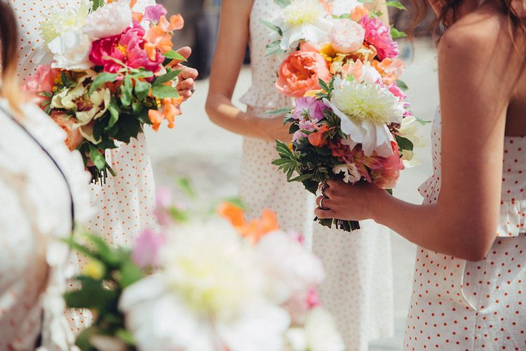 Bouquets by Palais Flowers | Coastal Wedding at East Quay Venue in Whitstable | Deborah Grace Photography