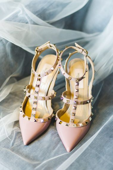 Valentino Rockstud Bridal Shoes   The Gibson's Photography   Second Shooter Martin Venherm   White Balloon Films