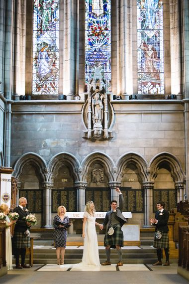 Wedding Ceremony   Bride in Eliza Jane Howell Wilma Wedding Dress   The Gibson's Photography   Second Shooter Martin Venherm   White Balloon Films