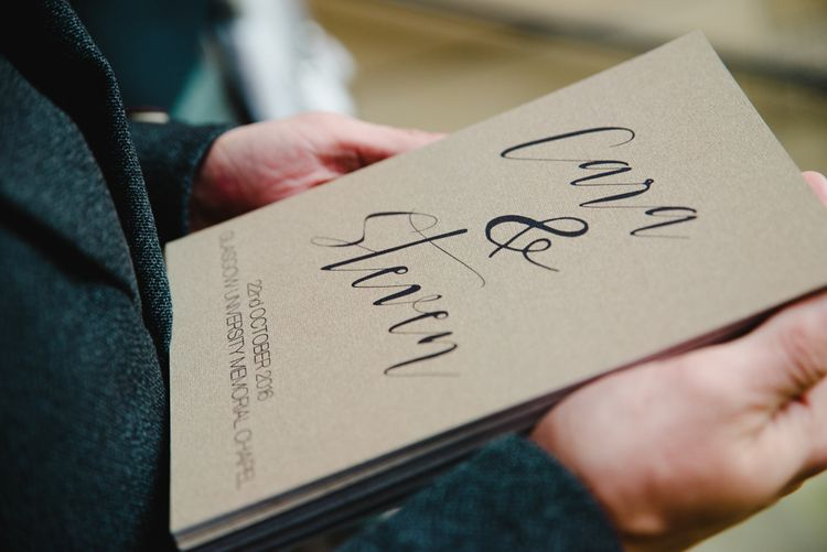 Kraft Paper & Script Wedding Stationery   The Gibson's Photography   Second Shooter Martin Venherm   White Balloon Films