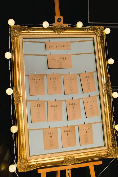 Gold Guilt Frame Table Plan   The Gibson's Photography   Second Shooter Martin Venherm   White Balloon Films