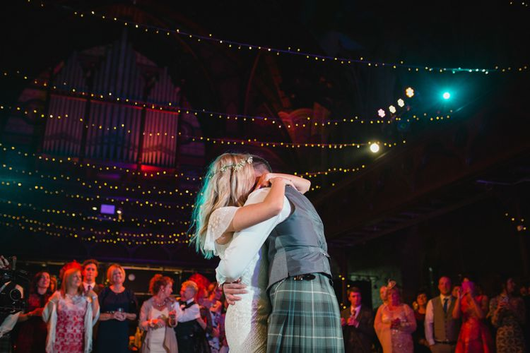 First Dance   Bride in Eliza Jane Howell Wilma Wedding Dress   Groom in Kilt   The Gibson's Photography   Second Shooter Martin Venherm   White Balloon Films