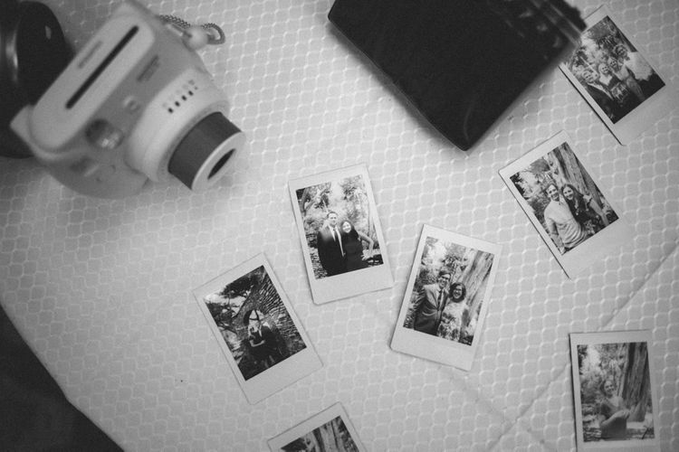 Polaroids Of Guests & Couple