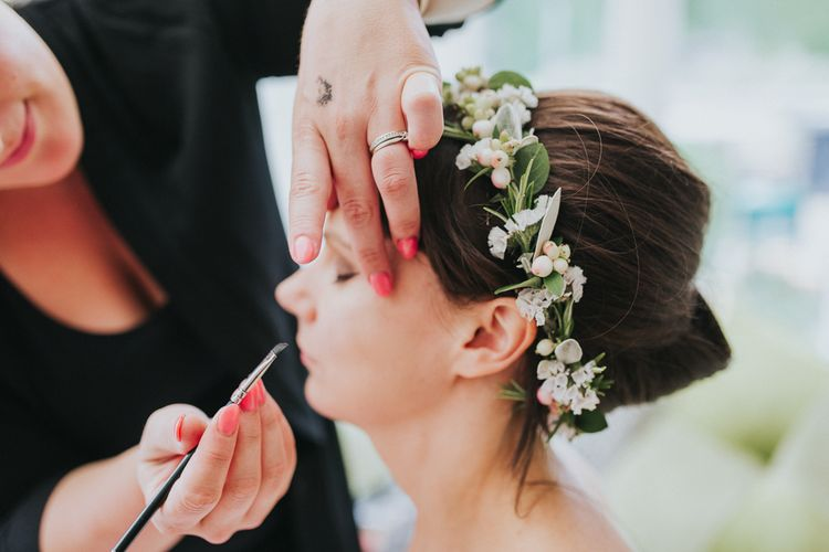 Bride in Delicate Flower Crown