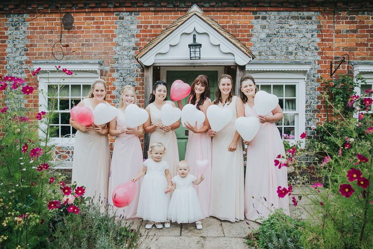 Wedding Party In Pastel Dresses