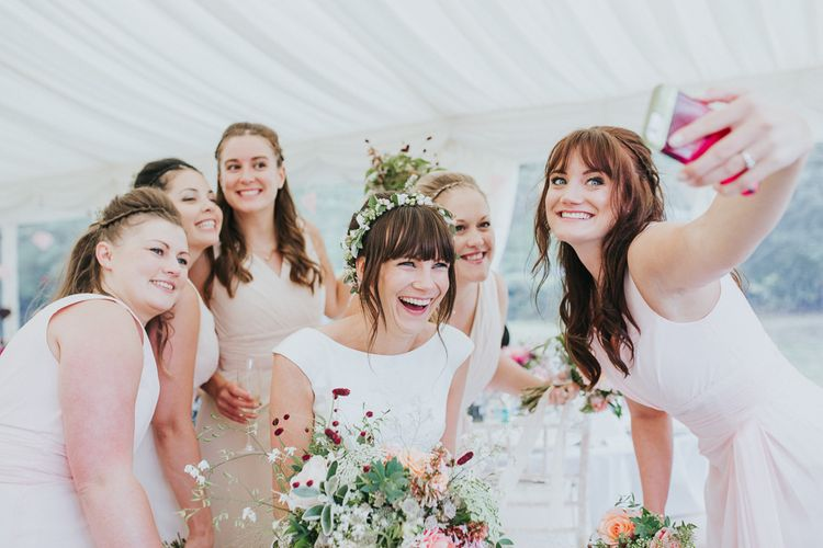 Beautiful Bridal Party Taking A Selfie