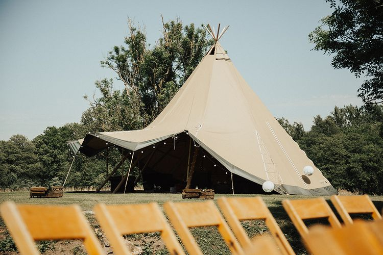 Tipi Area For Wedding Guests