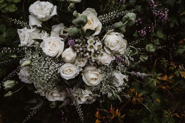 Wedding Flowers | Rustic Wedding at Barn at Barr Castle, Scotland | Caitlin + Jones Photography & Film