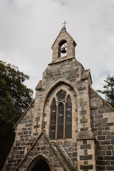 Church Wedding Ceremony | Rustic Wedding at Barn at Barr Castle, Scotland | Caitlin + Jones Photography & Film