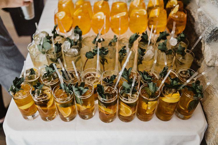 Cocktails | Rustic Wedding at Barn at Barr Castle, Scotland | Caitlin + Jones Photography & Film