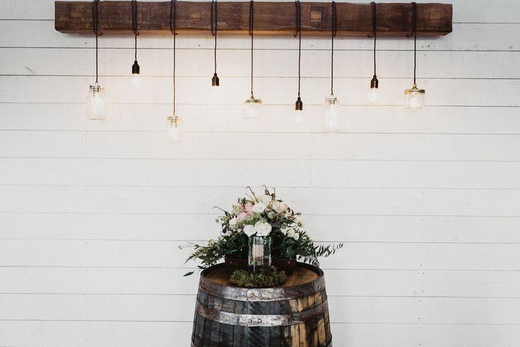 Emerson Lights | Barrel | Rustic Wedding at Barn at Barr Castle, Scotland | Caitlin + Jones Photography & Film