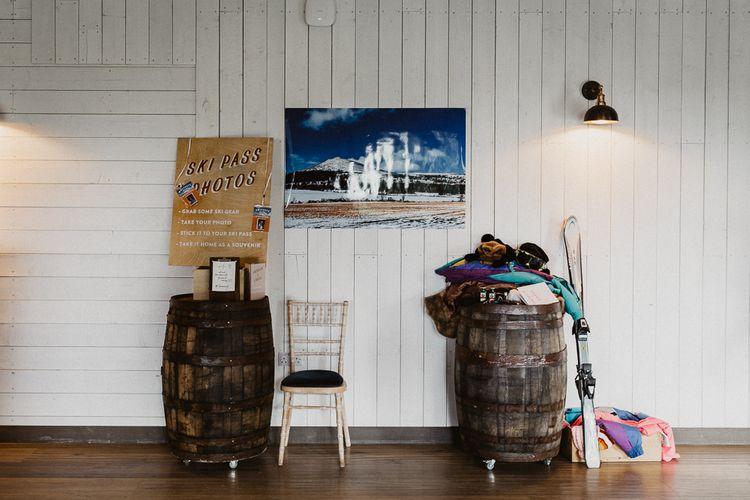 Ski Photo Booth | Rustic Wedding at Barn at Barr Castle, Scotland | Caitlin + Jones Photography & Film
