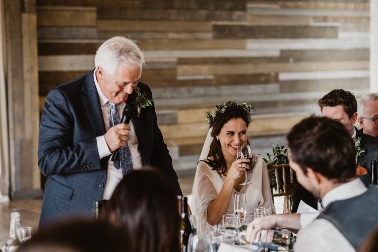 Wedding Speeches | Rustic Wedding at Barn at Barr Castle, Scotland | Caitlin + Jones Photography & Film