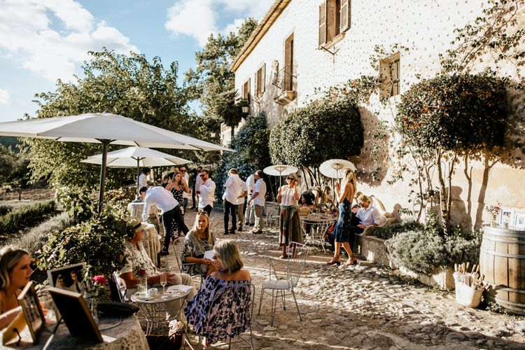 Bohemian Luxe Wedding In Mallorca At Finca Son Bosch With Bride In Made With Love Bridal Gown & Images By Chris & Ruth Photography