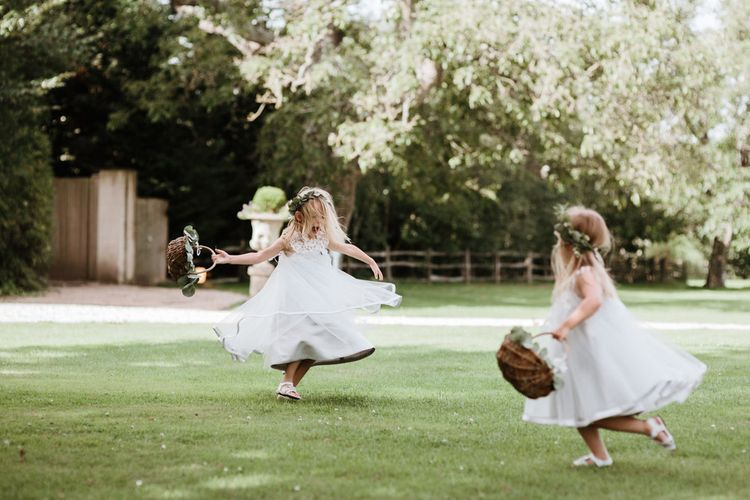 Flower Girls | Natural Wedding at Northbrook Park, Surrey | Green Antlers Photography | Gione Da Silva Film