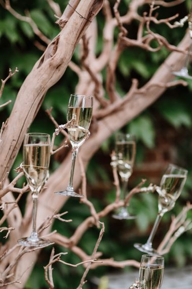 Drift Wood Wedding Decor | Natural Wedding at Northbrook Park, Surrey | Green Antlers Photography | Gione Da Silva Film
