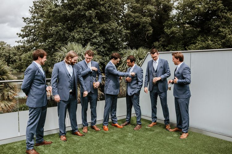 Groomsmen in Ted Baker Suits | | Natural Wedding at Northbrook Park, Surrey | Green Antlers Photography | Gione Da Silva Film