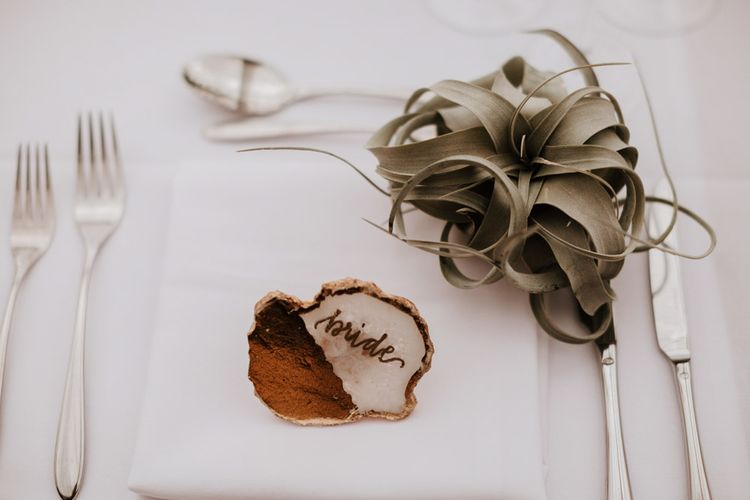 Place Setting | Natural Wedding at Northbrook Park, Surrey | Green Antlers Photography | Gione Da Silva Film
