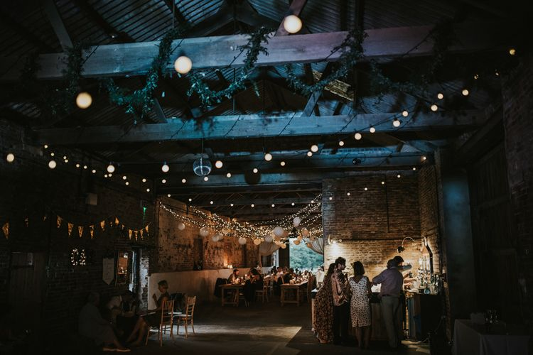 Festoon Lights | Fishley Hall Rustic Barn Wedding | Darina Stoda Photography