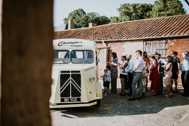 Crepes Van | Fishley Hall Rustic Barn Wedding | Darina Stoda Photography