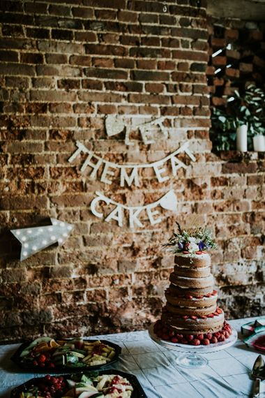Let Them Eat Cake Dessert Table | Fishley Hall Rustic Barn Wedding | Darina Stoda Photography