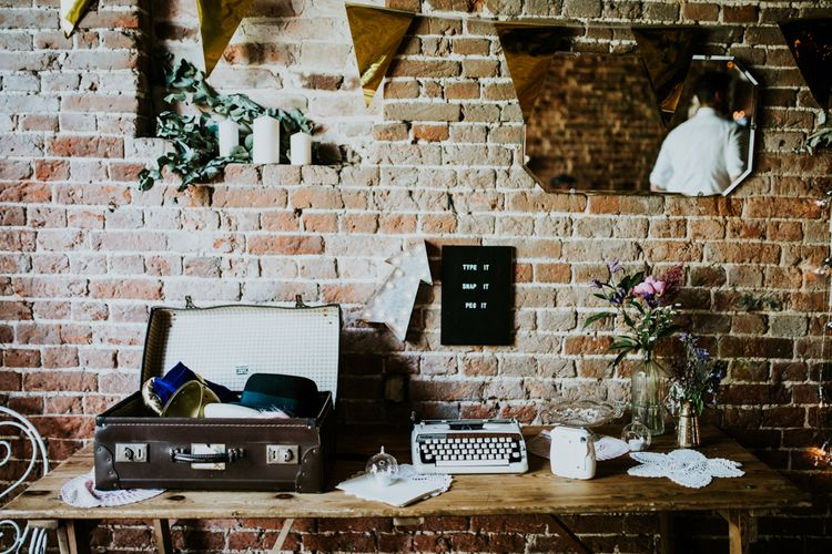 Polaroid Guest Book Station | Fishley Hall Rustic Barn Wedding | Darina Stoda Photography