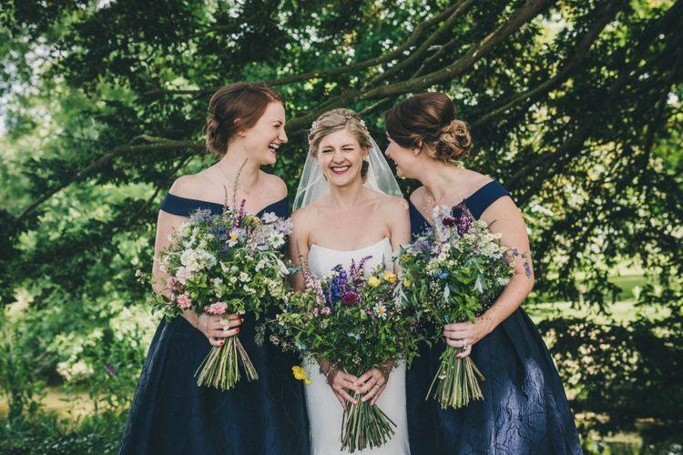 Bridesmaids In Navy Coast Dresses