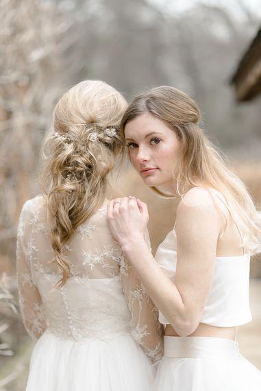 Natural Flowing Wavy Bridal Hair