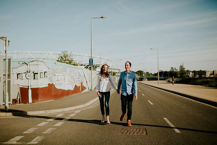 Stylish Engagement Shoot In Hackney Wick With Images By Irene Yap