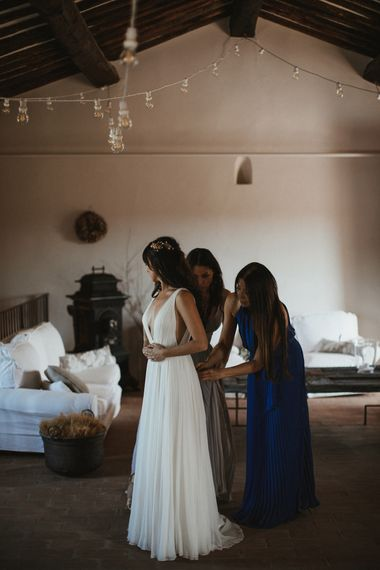 Elegant Destination Wedding In Tuscany At San Galgano Abbey With Bride In Bespoke Dress By Madame Paulette With Images From James Frost Photography