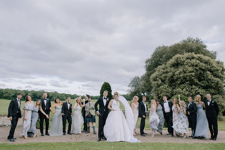 Wedding Party | Classic Blue & White Wedding at Prestwold Hall in Loughborough | Georgina Harrison Photography