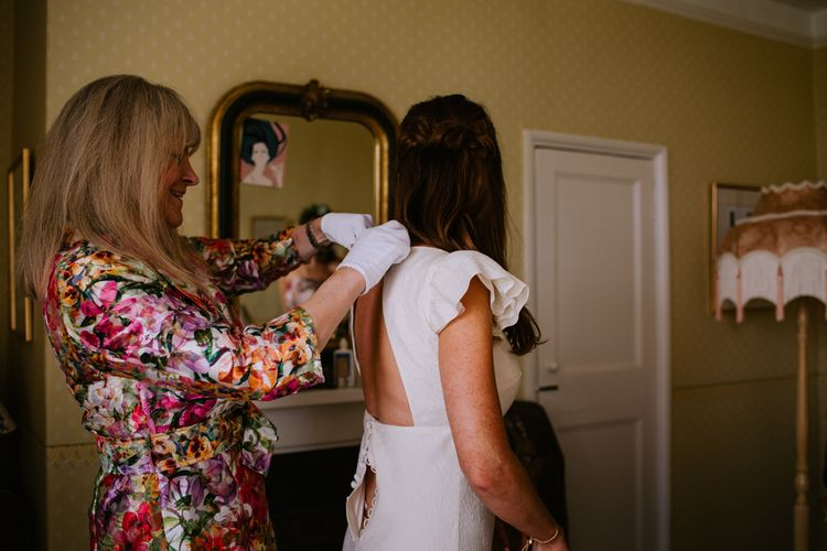 Wedding Morning Bridal Preparations | Bright Festival Themed At Home Wedding in a Tipi | McGivern Photography