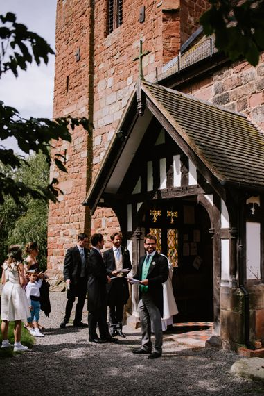 Church Wedding Ceremony | Bright Festival Themed At Home Wedding in a Tipi | McGivern Photography