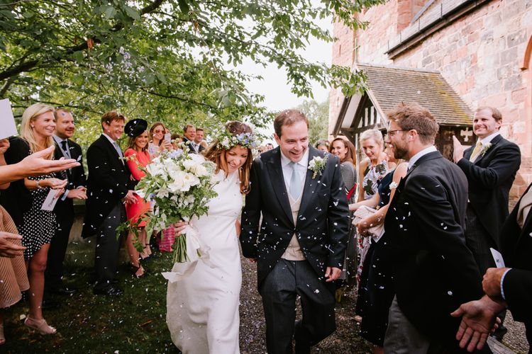 Confetti Exit | Bright Festival Themed At Home Wedding in a Tipi | McGivern Photography