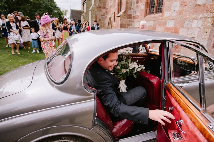 Wedding Car | Bright Festival Themed At Home Wedding in a Tipi | McGivern Photography
