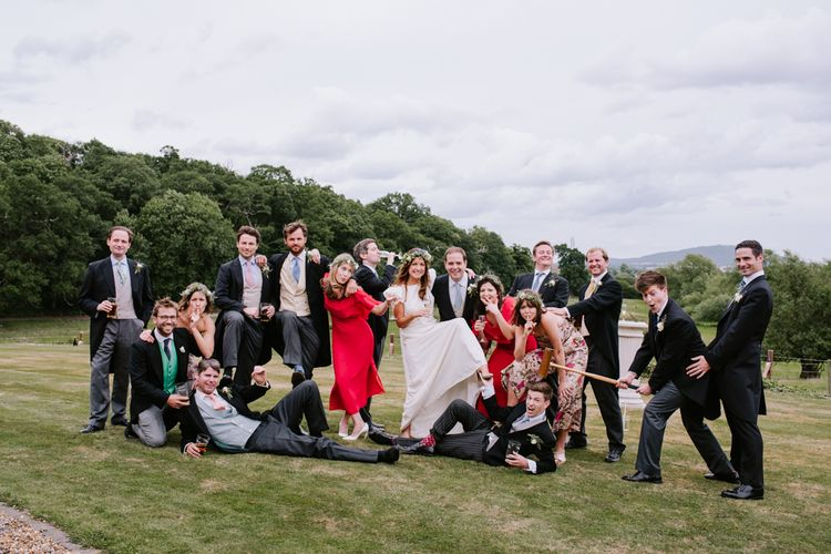 Wedding Party | Bright Festival Themed At Home Wedding in a Tipi | McGivern Photography