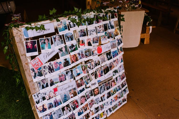 Polaroid Pictures | DIY Wedding Decor | Bright Festival Themed At Home Wedding in a Tipi | McGivern Photography