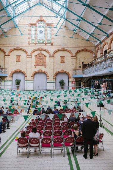 Victoria Baths Wedding Ceremony with Bunting