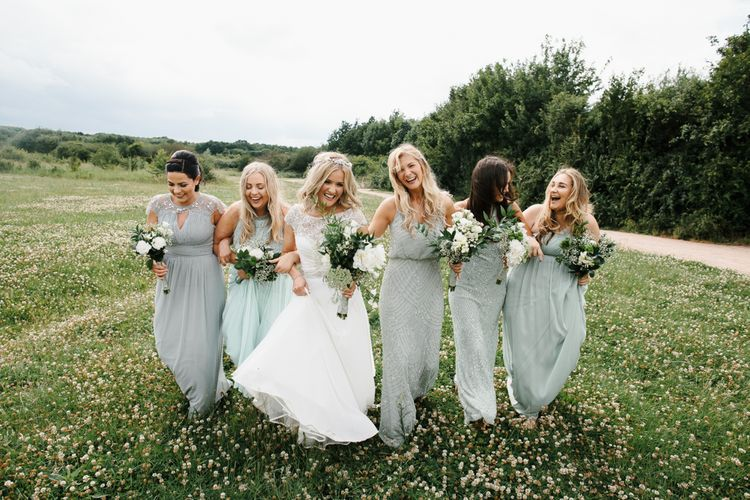 Wedding Party In Mint Green Dresses